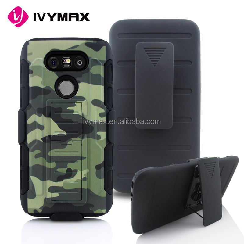 New arrival bulk mobile phone accessories super combo 3 in 1 printing robot holster cover case for LG G5