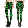 Digital printed four-leaf clover lady's sexy fitness yoga pant