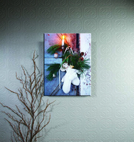 wholesale led lighted canvas wall art canvas print toy with candles picture light up for home decoration art work painting