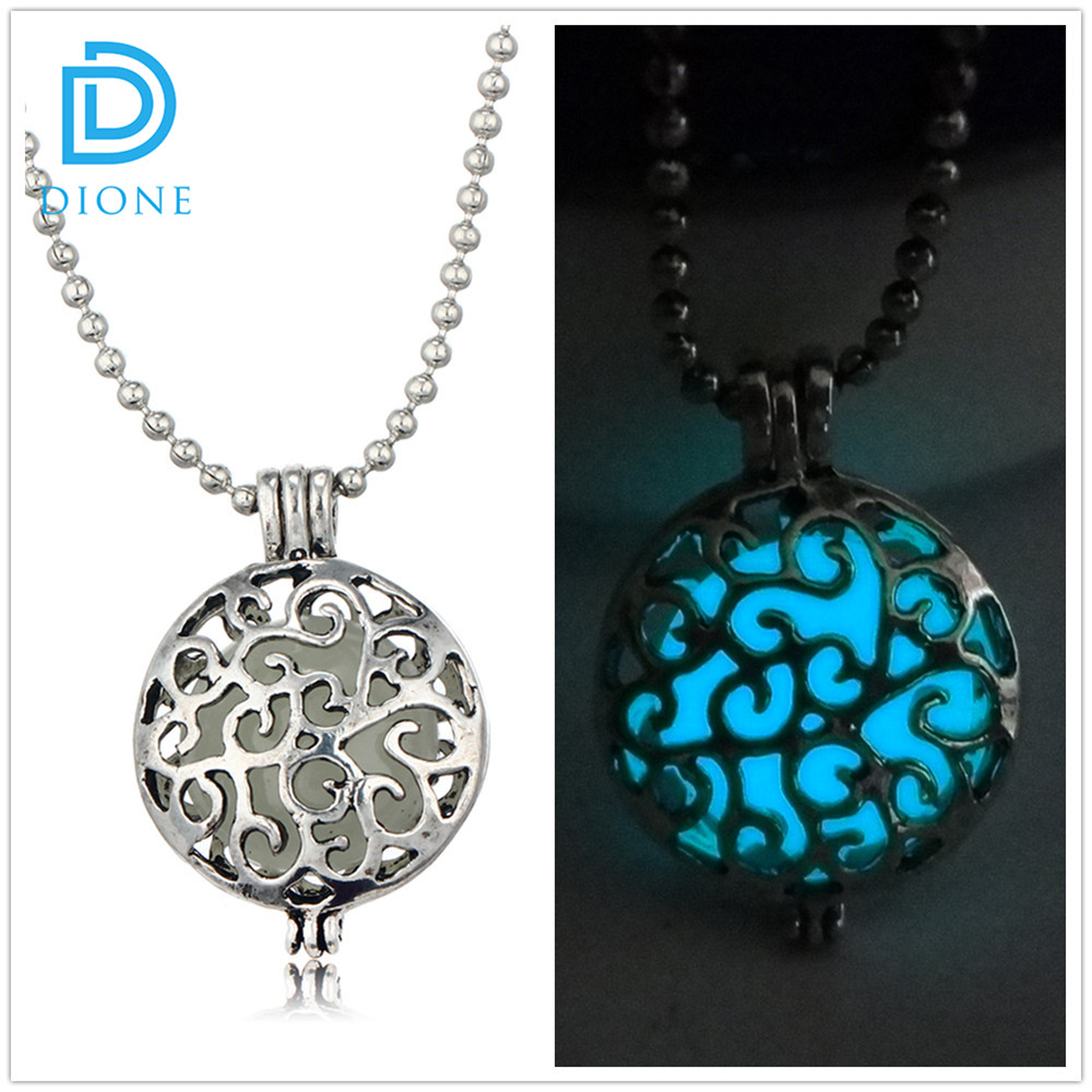 New Glow In The Dark Necklace Glowing Luminous Vintage Necklaces Unique Gift for Lover