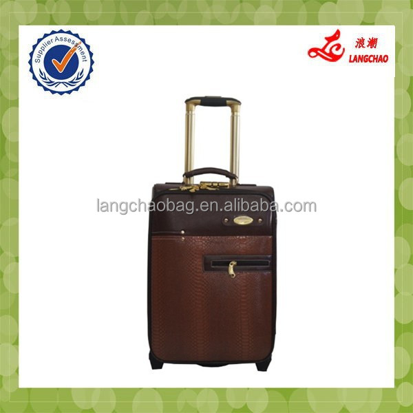 Dark Brown Decent Commercial Business Mini Trolley Suitcase