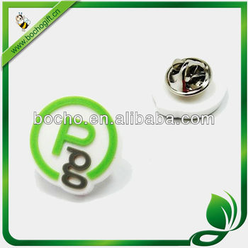 Promotion plastic pin badge