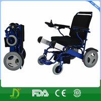 2016 new aluminum lightweight folding power wheelchair with lithium battery