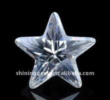 fancy star shape white cz stone