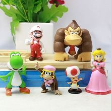 (Good Quality) PVC Super Mario Bros Mario Action Figure Set of 6 Action Figures