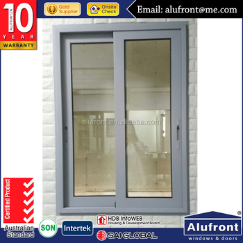 AS2047 &2208 Australian Certificate Sliding Window with IGU Glass and flyscreen