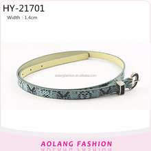 2017 Fashion Novel Design Snakeskin Grain Women faux Leather Belt