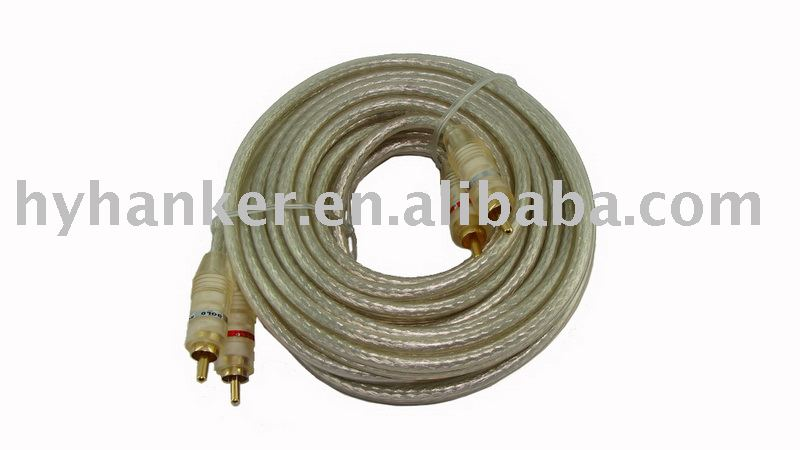 audio extension cable coiled rca cable for cars