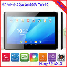 Android 4.2 Quad Core GPS Tablet PC 10.1 inch with 3G Phone Call Dual Sim