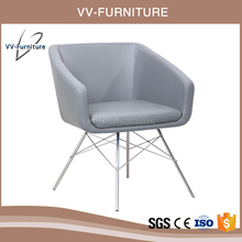 vv furniture creative stainless steel frame armrest lounge chair for home