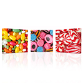 Wall Art 3 Panels Candy Store Decor Canvas Print Sweet Candies Wall Picture for Children's Room
