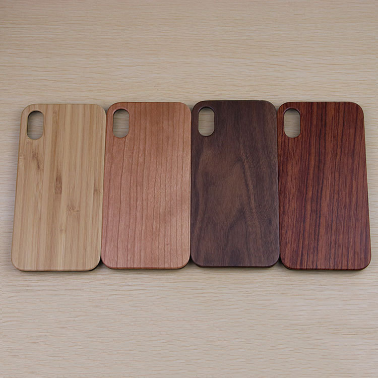 New high quality wood phone case Wholesale Custom Case wooden phone case for iPhone X case walnut