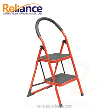 Steel Household 2 Step Ladder Red Color