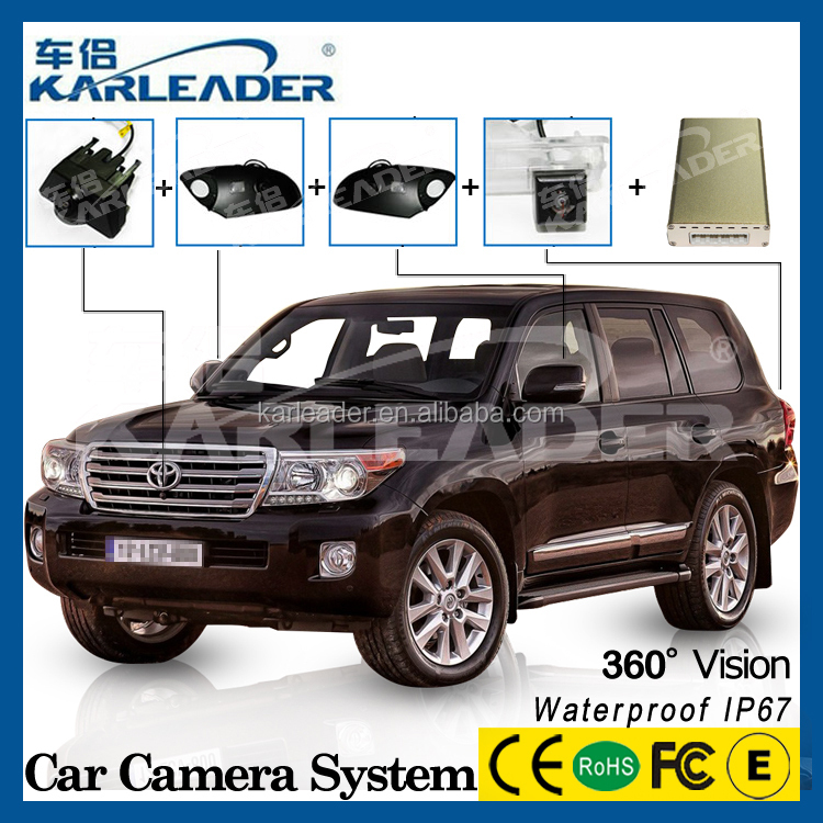 360 bird view park system for Toyota land cruiser accessories , 24 hours record car dvr camera system