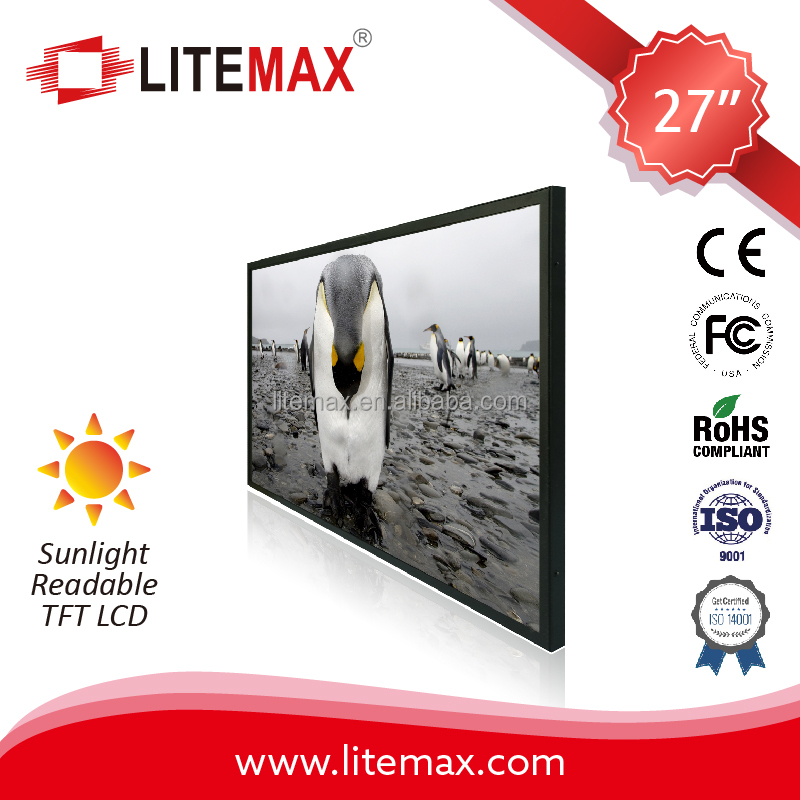 "27"" TFT LCD, 1000 nits LED backlight, MaxRGB, 1920x1080"