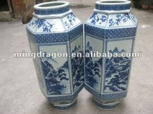 Chinese ancient blue and white antique porcelain vases