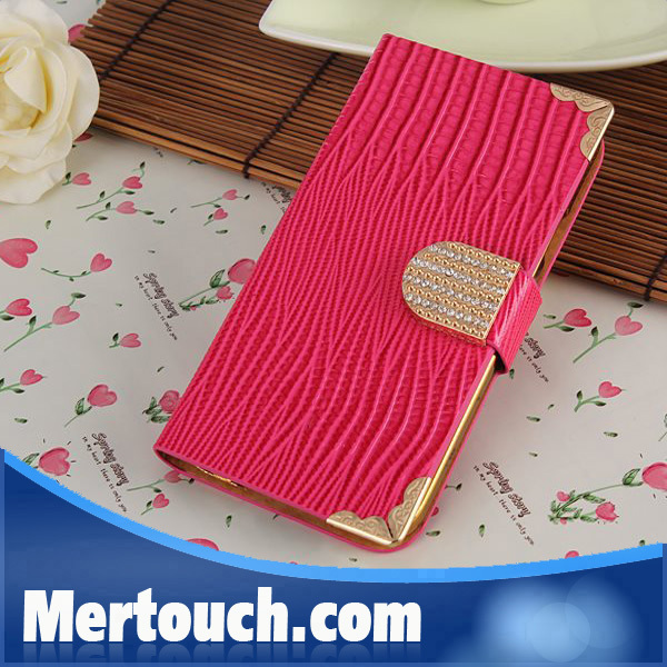 Mobile Phone leather Case for Samsung Galaxy S3 Case, PU leather with diamond