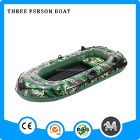 Eco-friendly PVC inflatable 3 person cheap price inflatable fishing boats
