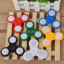 2017 hot sale LED fidget spinner,plastic fidget spinner toy,Tri Fidget Spinner with LED light
