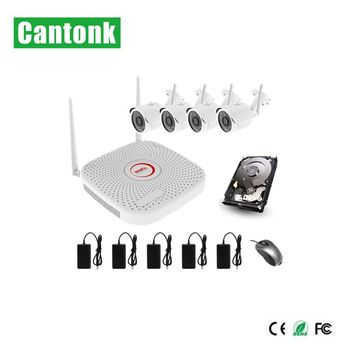 video surveillance cctv h.265 2mp 4ch wifi kits