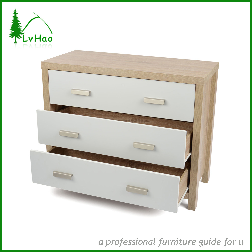 Modern style 4 set 3 drawer chest of drawers