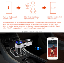 Bluetooth wireless FM Transmitter Hand-Free Car holder with charge for smartphone player Kit With Goosneck GPS Vehicle Mount
