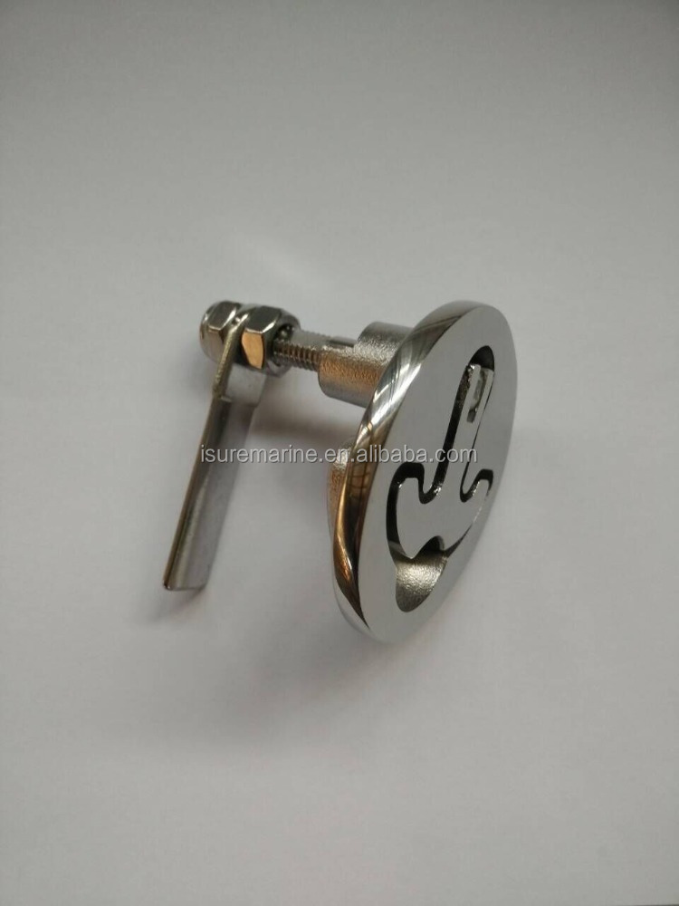 Stainless Steel Marine Boat Hatch Latches Turning Lock Lift Handle