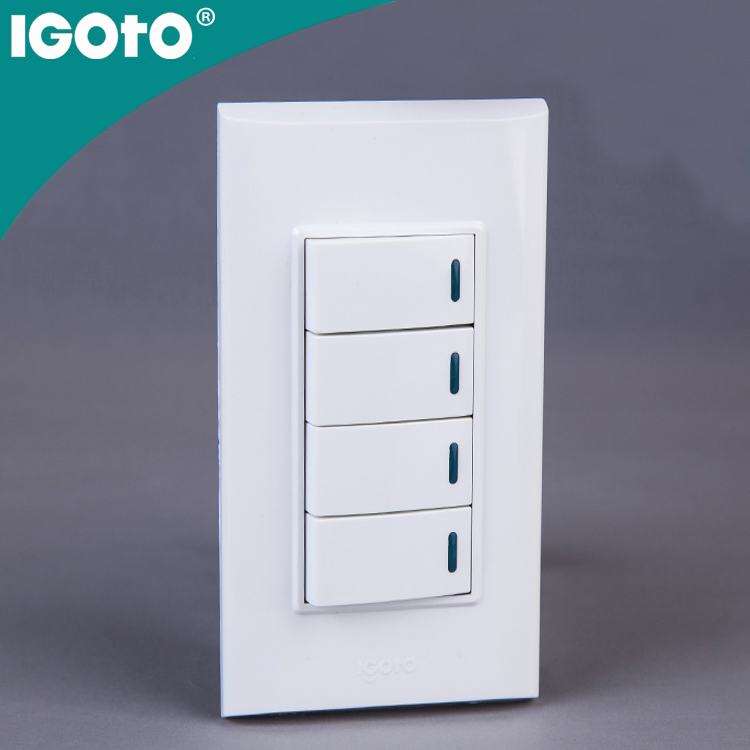IGOTO B518 CE UL certificate 4 Gang 2 way switch British / American / Australia / European / Italian Standard Wall Switch wifi <strong>w</strong>