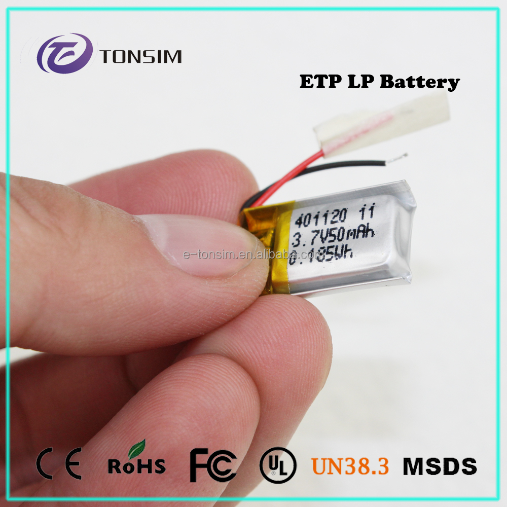 Tonsim lipo bak b18650ca 2250mah 18650 lithium ion battery 401120 for smart watch