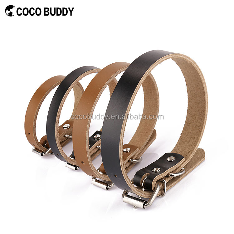 Hot Sell Dog Leather Harness Collar Leash, XL Real Leather dog Collar for Big Dog