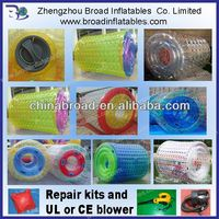 water playing 1mm PVC 2.4x2.6m wheel barrow inflatable tire