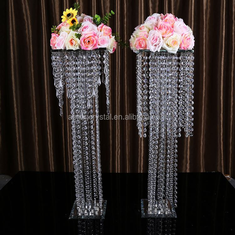 Hot selling trendy style flower stand wedding pillar directly sale