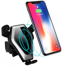 Amazon Best Sale 15W Fast Wireless Car Charger Holder Air Vent Mount for iPhone X 8 for Samsung Galaxy S9 Car Wireless Charger
