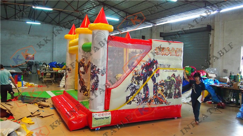 Cartoon type inflatable Bouncy castle combo bounce slide house for sale