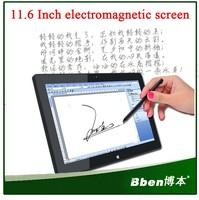 Cheap 11.6 inch Electromagnetic screen windows 8.1 Graphics Tablet pc with dual core dual camera
