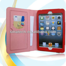 2014 unique design fake antique leather stand case for ipad mini
