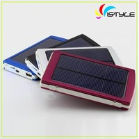 8000mah mobile solar charger, high quality two usb solar power bank