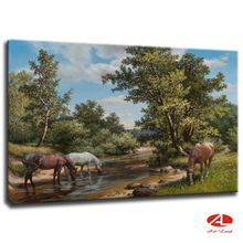 Hand painted landscape painting oil