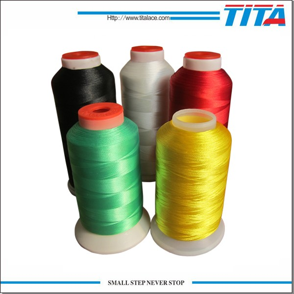 Reflective Crochet Polyester Bobbin Embroidery Thread 120D/2