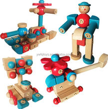 Wood craft construction kit robots to assemble kit wooden aircraft models
