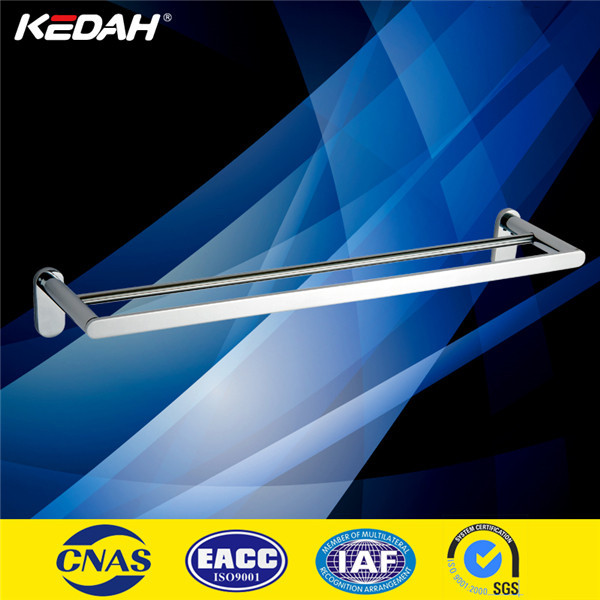 top quality wall mount square solid brass chrome bathroom towel rod bar with chrome plated
