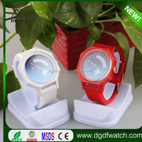 2016 Fashion colorful silicone quemex watch wholesale!! silicone band octagon unique watch!!