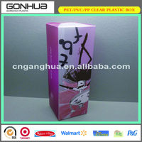 customized export Korea PET new cosmetics hair product packaging wholesale plastic hair extension boxes