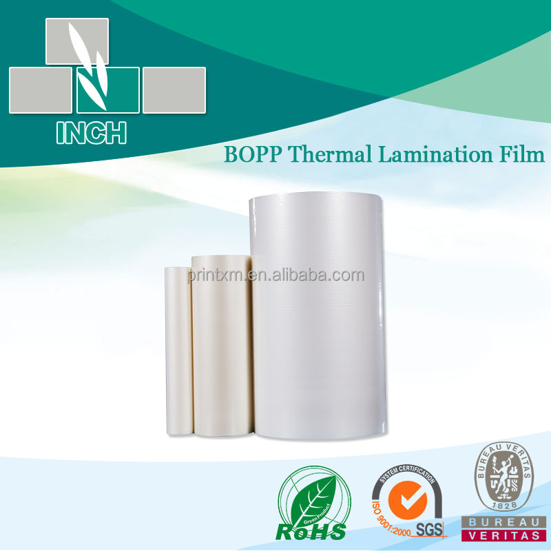 BOPP Transparent Plastic Foil With Glue For Printing Paper Bag Making Bopp Thermal Laminatiing With EVA In Gloss Finish