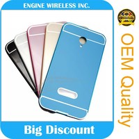 new arrival phone case Luxury pc back +Bumper cover aluminum metal frame Case for samsung note 2 case