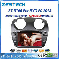 ZESTECH 7 inch 2 din car dvd hd touch screen dvd car head unit for byd f0 2013 car sat nav with gps navigation