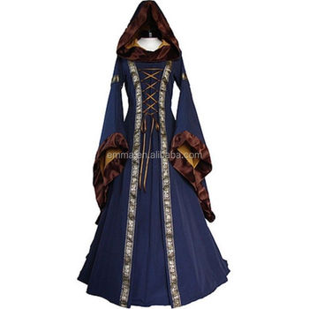 Dress Renaissance Womens Costume Medieval Victorian Fancy Marian Robin Hood SA749