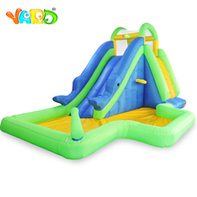 Residential Nylon Cheap Inflatable Water Park Water Slides With Pool