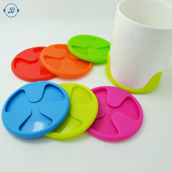 Novelty colorful silicone wine glasses grip coaster