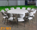 6 fts round folding table for indoor or outdoor parties, events and banquets